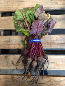 Red Beets w/ Tops (1) Bunch