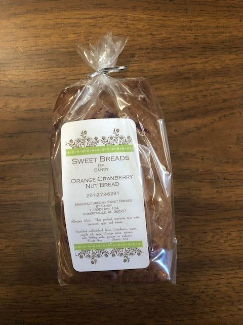 Sandy's Sweet Breads Orange Cranberry Nut Bread (10.5) Oz