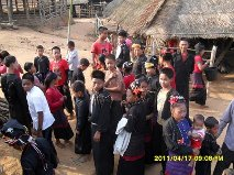 People in a village that our missionary evangelized in Myanmar.
