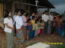 A church service in Myanmar.