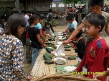Children from a village our missionary visited in Myanmar.