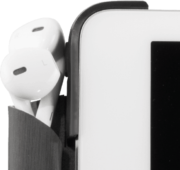 Accessory flap closed with Apple Earpods