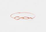 925 Sterling Silver Big Infinity statement Bracelet in 3 colors