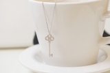 925 sterling silver Key to your heart Necklace - Celebrity Style