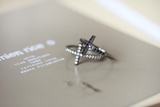 925 Sterling Silver Sideways Cross Ring (solid cross /cubic cross)