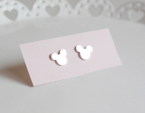 925 sterling silver Mickey Mouse studs earrings