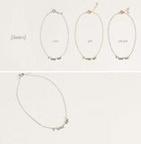 925 sterling silver I LOVE YOU bracelet, anklet in 3 colors