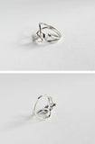 925 sterling silver Butterfly Statement ring, Butterflies ring