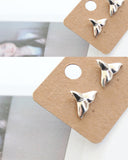 Cute and tiny Whale tail post earrings in 2 colors