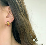 The Simpsons Stud Earrings , Bart Simpson And Lisa Simpson  Earrings,  Cartoon Earrings, Animated sitcom