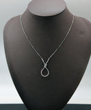 925 sterling silver Tied Knot Bow pendant Necklace