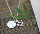 Believe and Bird Pendant Necklace in 3 colors, N0192K