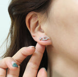 Cubic point Twisted Nail stud Earrings in 3 colors
