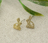 Cute Origami Rabbit stud earrings in 3 colors, E0209K