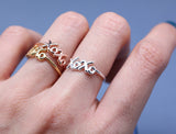 XOXO Hugs and Kisses Knuckle Wire Ringin gold / silver / pink gold