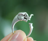 Cute Elephant Adjustable Wrap Ring, R0340S