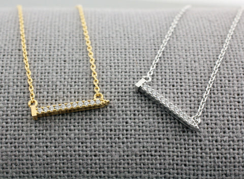 Cartier inspired twisted nail pendant necklace in gold silver cubic detailed nail pendant necklace tools necklace hand tool necklace aloadofball Image collections