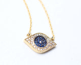 EVIL EYE Pendant Necklace detailed in Swarovski setting(925 sterling silver/ Brass)