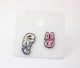 Cute Estherlovesyou Set of 3 Unbalance earrings, Estherbunny earrings