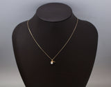 Acorn Pearl and leaf pendant necklace, Tiny Acorn Pearl Necklace