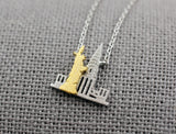 New York Necklace, NY Necklace, NYC Necklace, Statue of Liberty Necklace, Empire State Necklace, New york Cityscape Necklace, New york Skyline Necklace