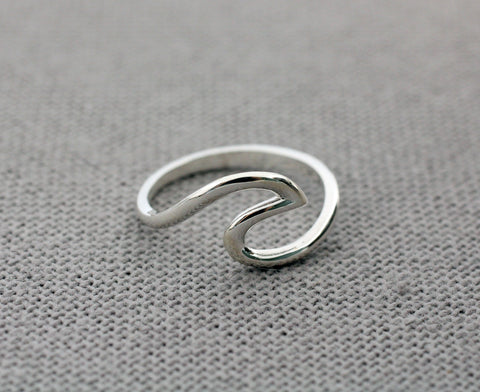 925 sterling silver Wave Ring, Surfing silver ring, Surf ring, Surfer gifts, Surfing Gift