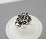 925 sterling silver Bunch of Flowers Ring, Flowers bouquet Ring, Wild flowers bouquet Statement ring