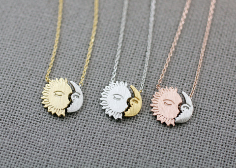 Sun and moon necklacesun moon jewelrywiccan jewelrypaganplanet nec sun and moon necklacesun moon jewelrywiccan jewelrypaganplanet necklace aloadofball Gallery
