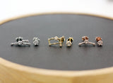 Cubic pointed Zodiac Sign stud Earrings / Cubic Constellation Signs earrings / Zodiac Sign jewelry