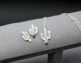 925 sterling silver Cactus Necklace, Cacti Tree Pendant necklaces, saguaro cactus necklace