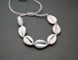 925 sterling silver Cowrie Bracelet, Scallop Seashell Bracelet, cowrie shell bracelet