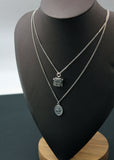 925 Sterling Silver Miraculous Virgin Mary Medal Necklace ,Rosary and Cross necklace
