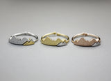 Cute two colors Mountain Ring, Two Tone Mountain Ring in 3 colors