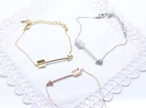 Big Piercing Arrow Bracelet in gold / silver / pink gold