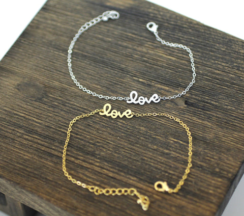 LOVE Bracelet in Gold / Silver (925 sterling silver/plated over Brass)