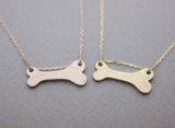 925 Sterling Silver Dog bone charm pendant necklace 3 colors