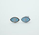 EVIL EYE Stud Earrings detailed in CZ setting Gold / Silver(925 sterling silver / plated over Brass), E0176G