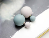 Front and Back Pastel ball ear jacket, unbalance Color balls ear jacket, Ball stud,E1094S
