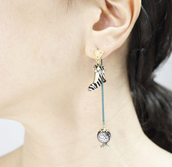 bar file page kikichic long front york back chain stud silver earrings connecting luxury minimalist product drop new