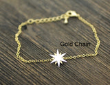 Shiny Gold and Silver Star Charm Bracelet in gold / silver , B0186G