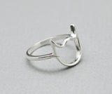 925 Sterling Cute devil face Ring , Little Devil Ring, Devil horns Ring, Cat face R0786S