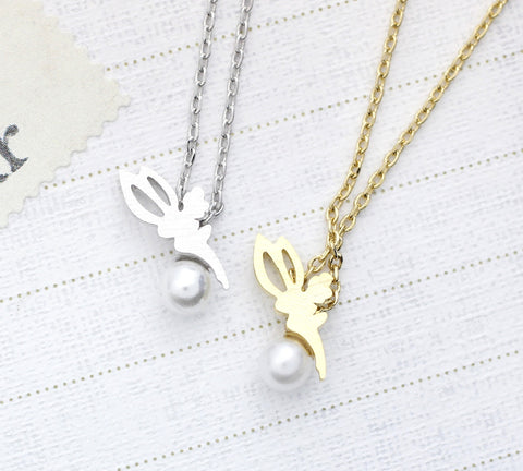 Tiny Tinkerbell with Pearl Necklace in 2 colors