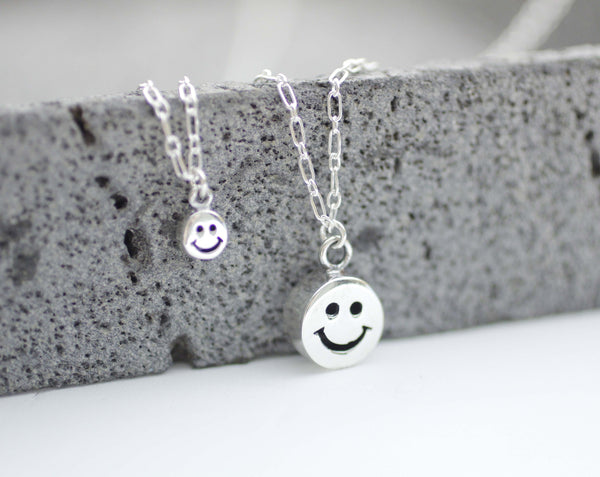 Big mickey mouse studs earrings in matte gold 925 sterling silver cute smile man charms necklace smiley face pendant necklace aloadofball Choice Image