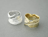 Big Feather Ring in Gold / Silver, R0445G
