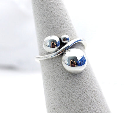 925 sterling silver Bubble balls ring