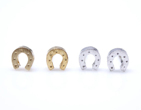 Horseshoe studs earrings in gold / silver(925 sterling silver/plated over Brass)