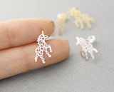 Beautiful Unicorn stud earrings in silver/ gold, E0449G