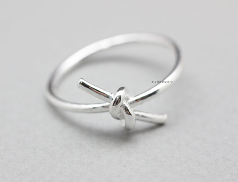 925 sterling silver Simple Knot  Ring, R0832G