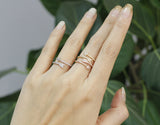 Arrow ring detailed with CZ  in 3 colors- Adjustable Ring