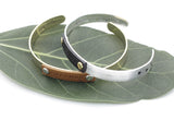 DREAMER Leather Tag Bangle Bracelet in 2 colors, B0042G